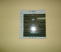 bảng biển chỉ dẫn mica, alu, inox